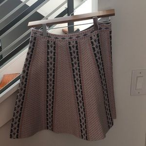 BCBG printed knit, A-like skirt